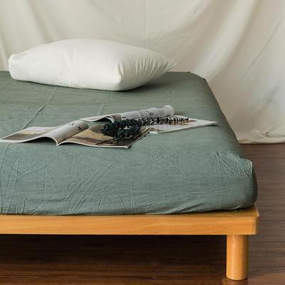 水洗棉单品(床笠) 120*200cm 纯绿