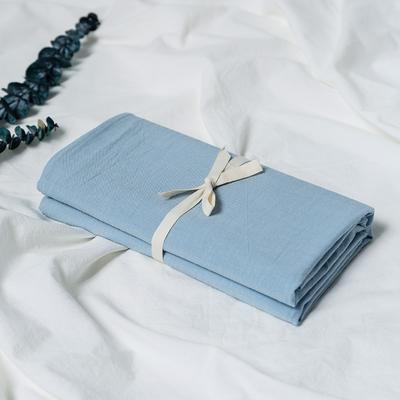 水洗棉基础款新花型单品(枕套) 48cmX74cm/对 浅蓝
