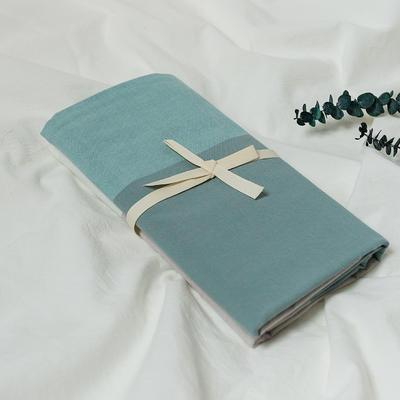 水洗棉基础款新花型单品(枕套) 48cmX74cm/对 浅蓝大格