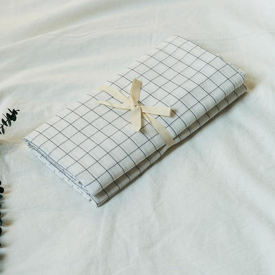 水洗棉基础款新花型单品(枕套) 48cmX74cm/对 小白格