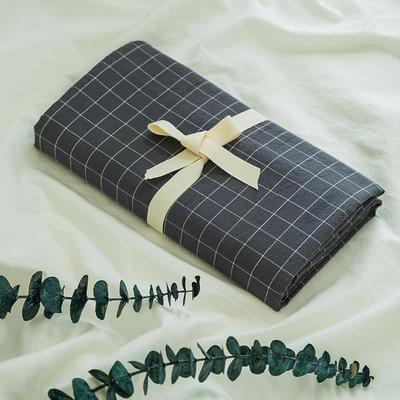 水洗棉基础款新花型单品(枕套) 48cmX74cm/对 小灰格