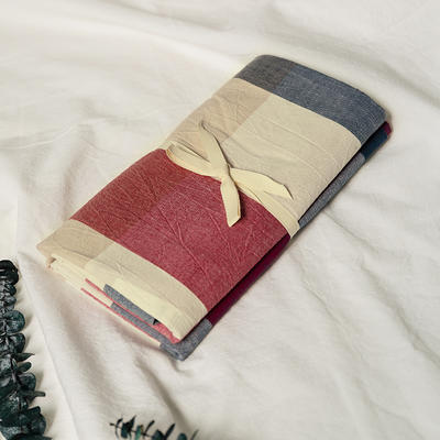 水洗棉基础款新花型单品(枕套) 48cmX74cm/对 红蓝中格