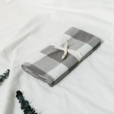 水洗棉基础款新花型单品(枕套) 48cmX74cm/对 灰中格