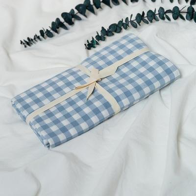 水洗棉基础款新花型单品(枕套) 48cmX74cm/对 浅蓝小格