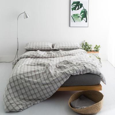 水洗棉基础款多规格四件套 中号床单款(1.5m-1.8m床) 咖朦胧