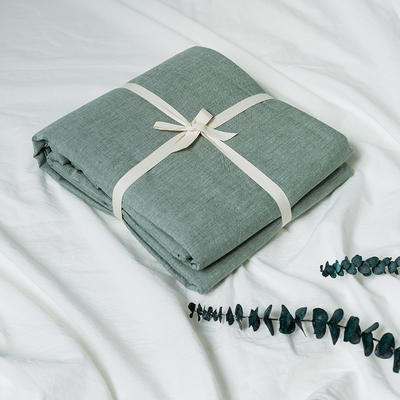 水洗棉基础款新花型单品(被套) 150x200cm 纯绿