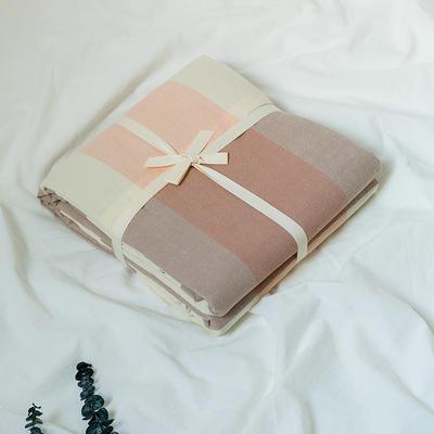 水洗棉基础款新花型单品(被套) 150x200cm 粉大格