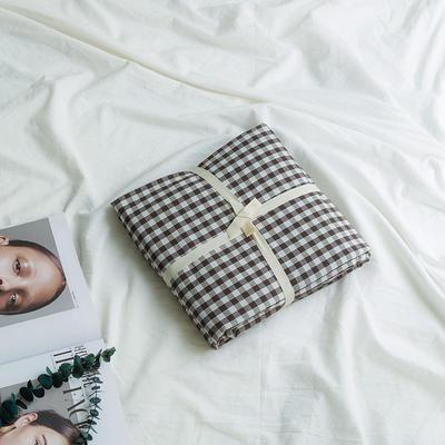 水洗棉基础款新花型单品(被套) 150x200cm 黑咖小格
