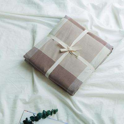 水洗棉基础款新花型单品(被套) 150x200cm 咖大格
