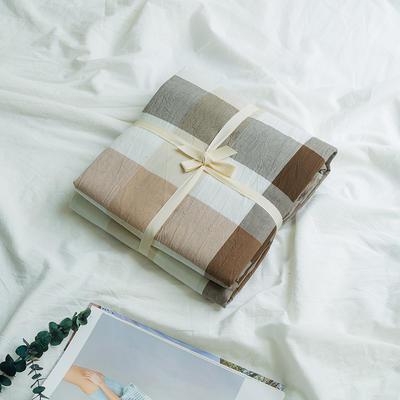 水洗棉基础款新花型单品(被套) 150x200cm 咖中格800