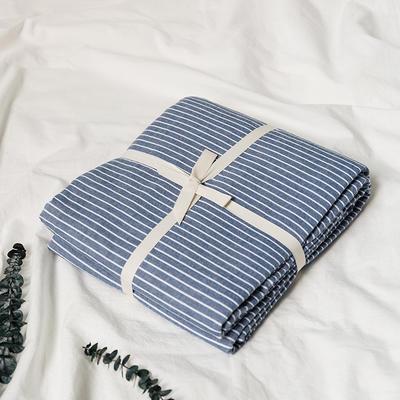 水洗棉基础款新花型单品(被套) 150x200cm 蓝细条