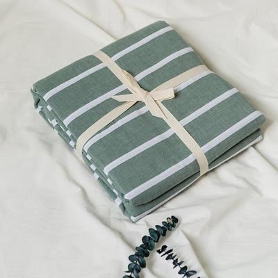 水洗棉基础款新花型单品(被套) 150x200cm 绿宽条