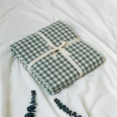 水洗棉基础款新花型单品(被套) 200X230cm 绿小格