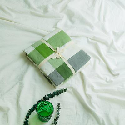 水洗棉基础款新花型单品(被套) 200X230cm 绿中格800