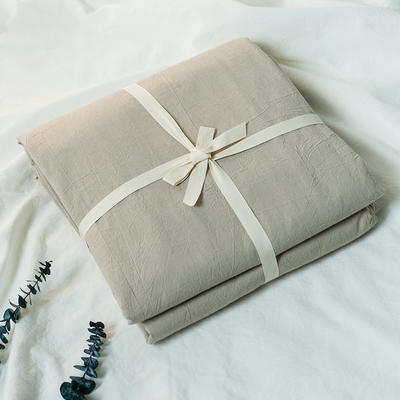水洗棉基础款新花型单品(被套) 200X230cm 米色