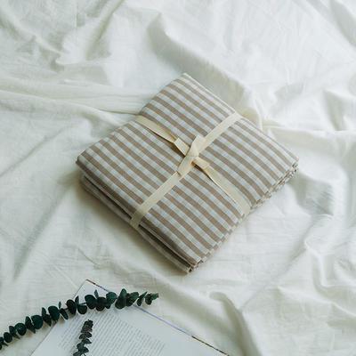 水洗棉基础款新花型单品(被套) 200X230cm 米小格