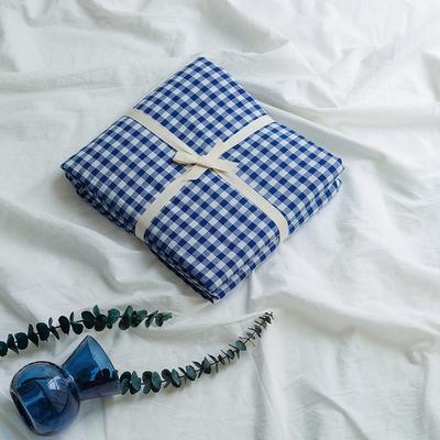 水洗棉基础款新花型单品(被套) 200X230cm 深蓝小格