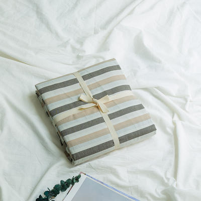 水洗棉基础款新花型单品(被套) 200X230cm 条纹咖800