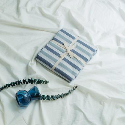 水洗棉基础款新花型单品(被套) 200X230cm 条纹蓝