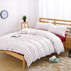 水洗棉基础款多规格四件套 小小号床单款(0.9-1.2米床) 初春格