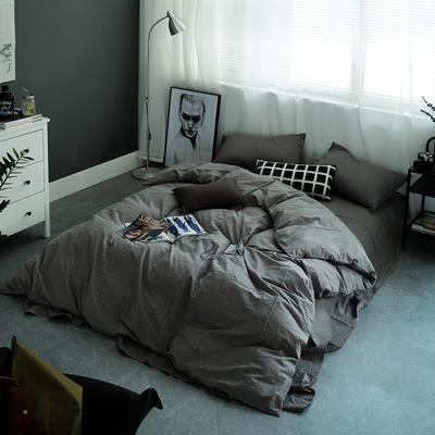 水洗棉基础款多规格四件套 小小号床单款(0.9-1.2米床) 灰