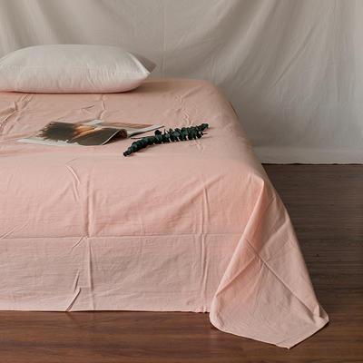 全棉色织精梳水洗棉 单品床单床笠 120cmx200cm 床笠 纯粉