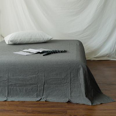 全棉色织精梳水洗棉 单品床单床笠 150cmx200cm 床笠 纯灰