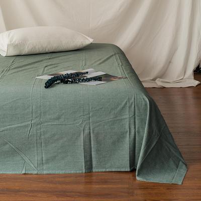 全棉色织精梳水洗棉 单品床单床笠 150cmx200cm 床笠 纯绿