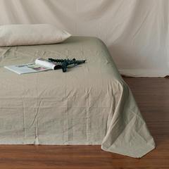 全棉色织精梳水洗棉 单品床单床笠 120cmx200cm 床笠 米色