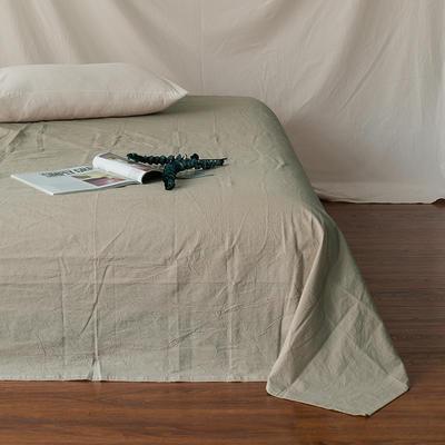 全棉色织精梳水洗棉 单品床单床笠 150cmx200cm 床笠 米色