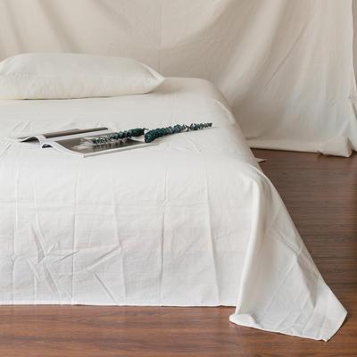 全棉色织精梳水洗棉 单品床单床笠 120cmx200cm 床笠 白