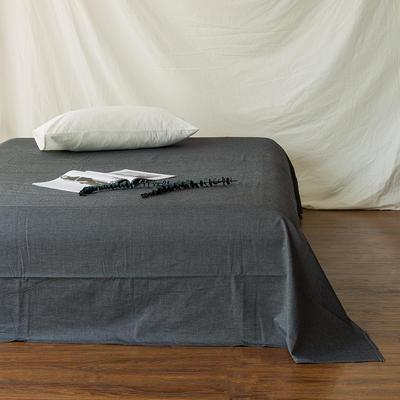 全棉色织精梳水洗棉 单品床单床笠 150cmx200cm 床笠 深灰