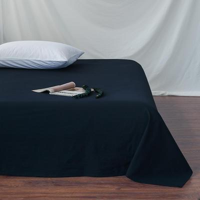 全棉色织精梳水洗棉 单品床单床笠 120cmx200cm 床笠 藏蓝