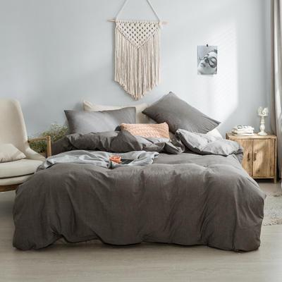 水洗棉基础款经典花型翻拍2 1.2m(4英尺)床 纯灰