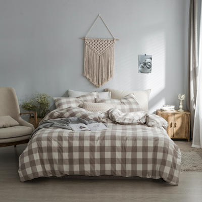 水洗棉基础款经典花型翻拍2 床笠款1.2m(4英尺)床 米中格