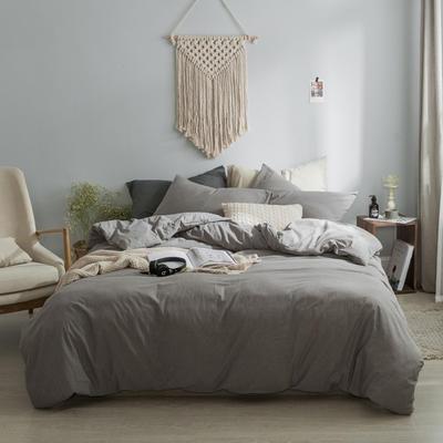 水洗棉基础款经典花型翻拍2 床笠款1.2m(4英尺)床 浅灰