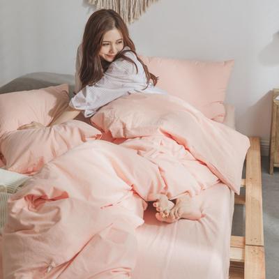 水洗棉基础款经典花型翻拍(模特一) 1.2m(4英尺)床 粉玉