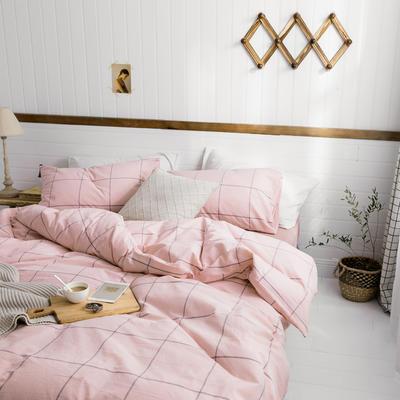 2019新款水洗棉1.0-1.5系列 三件套1.2m(4英尺)床 北欧粉
