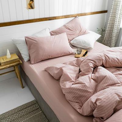 2019新款水洗棉1.0-1.5系列 1.5m(5英尺)床 粉灰细条