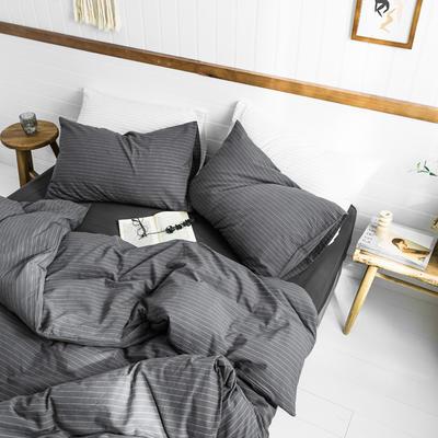 2019新款水洗棉1.0-1.5系列 1.5m(5英尺)床 灰细条