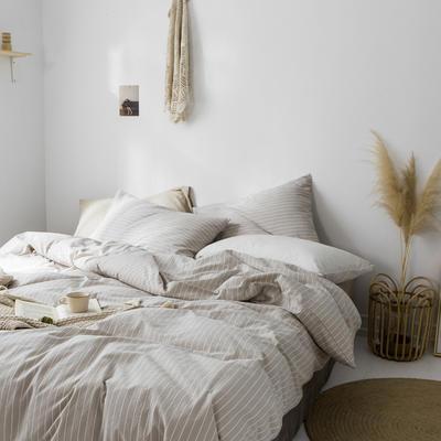 2019新款水洗棉1.0-1.5系列 1.5m(5英尺)床 米竖细条