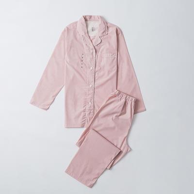 2019新款-单层纱情侣长袖套装 M 单层长袖套装女 粉