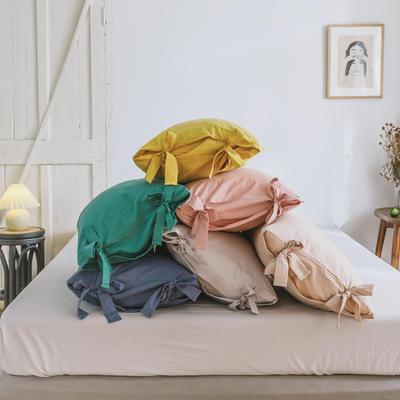 2019新款-水洗棉绑带款四件套 床单款1.8m(6英尺)床 组合图