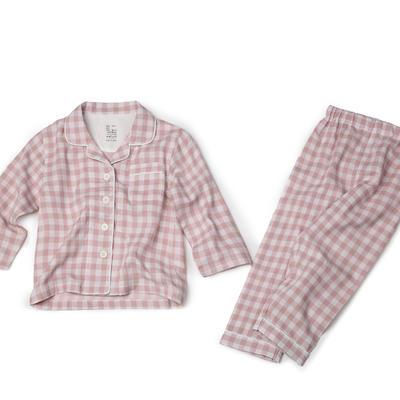 2019新款-家居服儿童 100cm 粉色格子