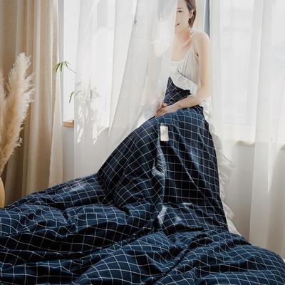 2020新款水洗棉四件套 洛丽塔荷叶边系列四件套 1.8m床单款 暖冬格