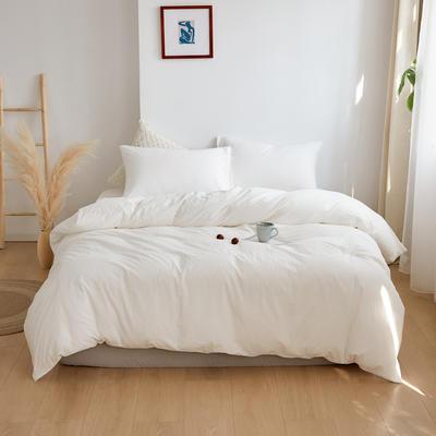 2020春夏新品水洗棉基础款2.0系列 标准床单款 素白