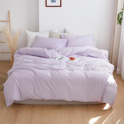 2020春夏新品水洗棉基础款2.0系列 标准床单款 浅紫