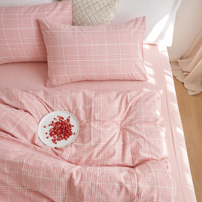2020春夏新品水洗棉基础款2.0系列 标准床单款 茜粉