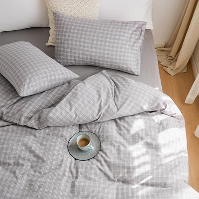 2020春夏新品水洗棉基础款2.0系列 标准床单款 zakka灰