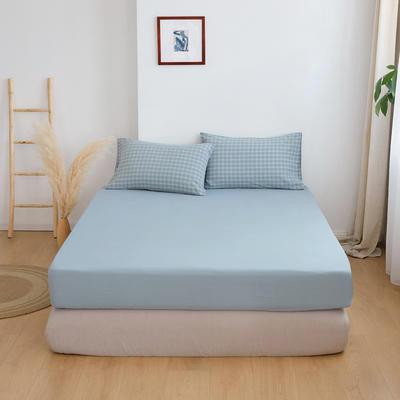 2020春夏新品水洗棉基础款2.0系列 标准床单款 zakka蓝
